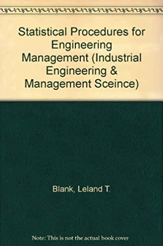 buy statistical procedures for engineering management and science rh amazon in FAA Systems Engineering Manual USACE Engineering Manuals
