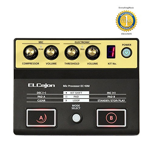Roland EC-10M El Cajon Mic Processor with 1 Year Free Extended Warranty (Splash Pad Trigger)
