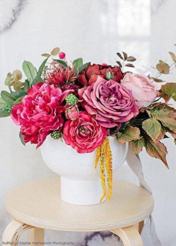 (Afloral Orion Ceramic Flower Pot in White - 6.5