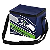 Seattle Seahawks Big Logo Stripe 6 Pack Cooler
