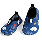 L-RUN Toddler Waterproof Quick Dry Aqua Water Shoes Blue US 12-18 Months=EU 19-20