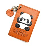 Panda Leather Animal Pass/ID/Credit/Card Holder/CaseVANCA Handmade in Japan