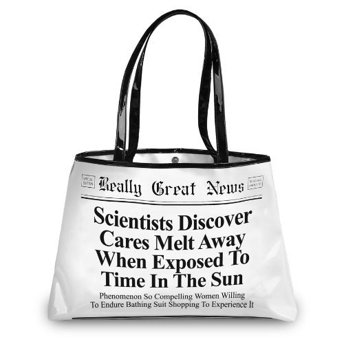 Really Great News Tote Bag Cares Melt Away by - Mall News