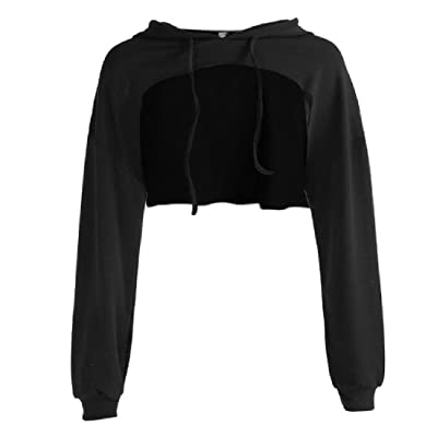 AngelSpace Women Long Sleeve Warm Fleece Pullover Solid Color Sweatshirts
