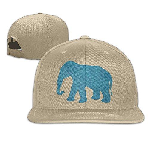 Aiguan Blue Elephant Flat Visor Baseball Cap, Fashion Snapback Hat Natural
