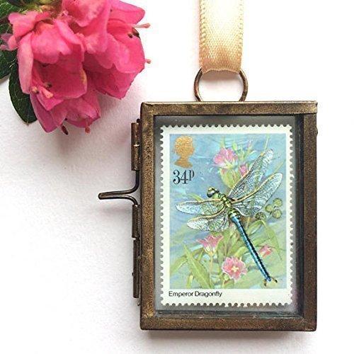Dragonfly Framed Postage Stamp Gift (Stamp Framed)