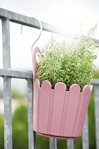EMSA landhaus jardinière flores maceta tiesto para balcón blanco 39