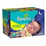 Pampers Overnight, Unisex, Talla 4, Pañales, 62 Piezas