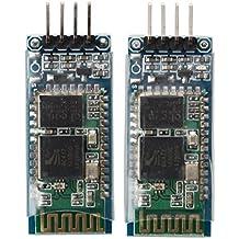 HC-06 Wireless Bluetooth Transceiver Module - TOOGOO(R) 2 x Arduino JY-MCU HC-06 Wireless Bluetooth Serial RF 5V Transceiver Module