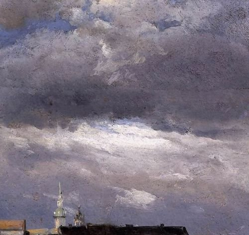 Johan Christian Clausen Dahl Cloud Study Thunder Clouds Over The Palace Tower... by 1st Art Gallery