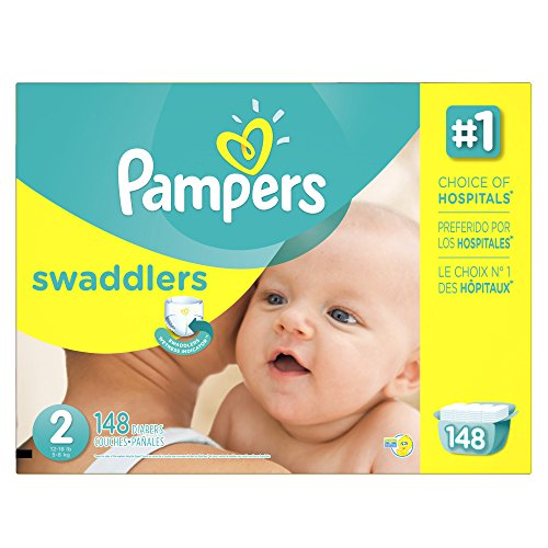 : Pampers Swaddlers Disposable Diapers Size 2, 148 Count, ECONOMY