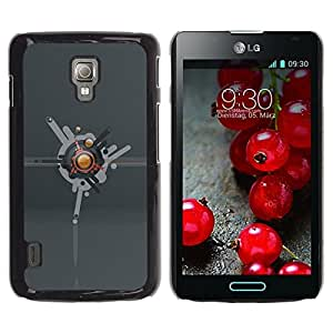 LECELL -- Funda protectora / Cubierta / Piel For LG Optimus L7 II P710 / L7X P714 -- Abstract --