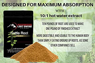 Stinging Nettle Root Extract - All Natural Testosterone Booster - Estrogen Blocker - Limits DHT, Hormone Balance and Immune Support - Gluten Free, Paleo/Vegan / Keto Friendly (75 g)