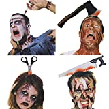 4 Pcs Halloween Head Band Costume Bleeding Knife Headband, Halloween Horrible Funny Prop, Halloween Hair Accessories Costume Halloween Party