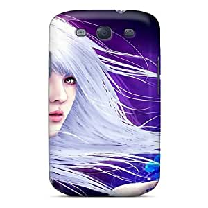 White Hair Case Compatible With Galaxy S3/ Hot Protection Case