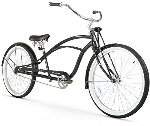 Deluxe Cruiser (Firmstrong Urban Man Deluxe Single Speed Stretch Beach Cruiser Bicycle, 26-Inch, Black)