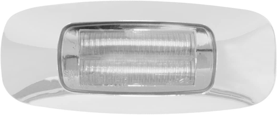 Prime Amber//Clear 4 Led Dual Function Light GG Grand General 74721 3-1//2 Inch Rect