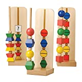 Build-By-Pattern Beads 137 pc. Hardwood Set For Children with Storage Box