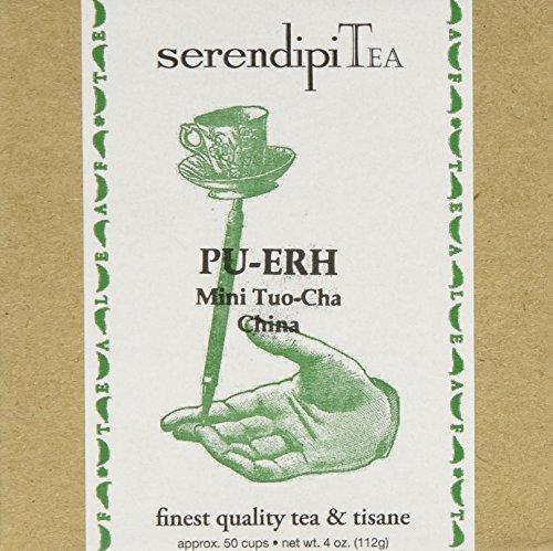 (SerendipiTea Pu-erh,  Mini Tuo-Cha, China, Organic Black Tea, 4-Ounce Box)