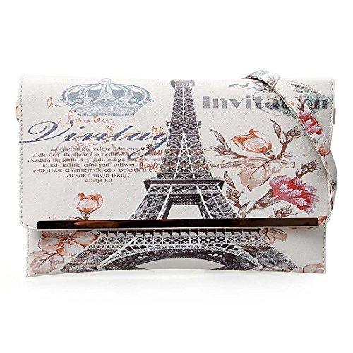 Main Of Imprimé Motif Texturé Couronne Sac Stamp Bmc Affranchissement Womens À Pochette Cuir France Mode Synthétique Le wPq5qZY0