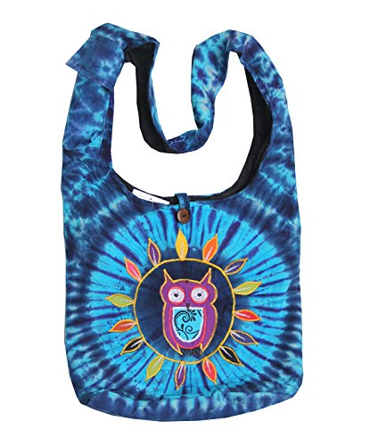 Cross Dye Turquoise Sling Owl Bag body Hippie Hobo KayJayStyles Nepal Tie UwTtYUq
