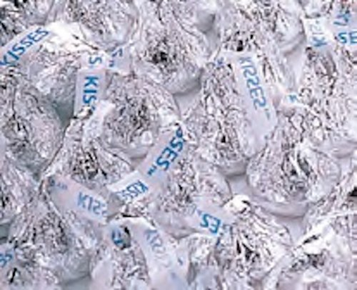 Silver Hershey's Kisses Milk Chocolate Candy 5LB