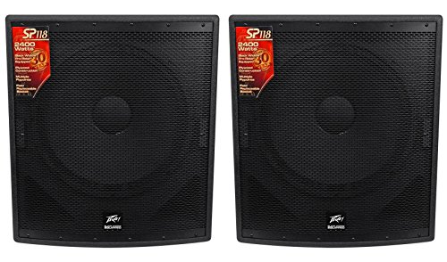 (2) Peavey SP 118 18'' Passive Flyable Subwoofers Totaling 4800 Watt by Peavey