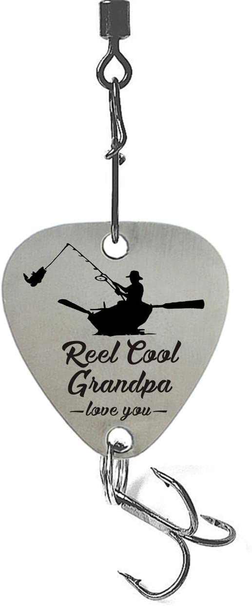 liduola Grandpa Gift Love You Reel Cool Grandpa Stainless Steel Fishing Lure Grandpa Gifts for Fathers Day Grandpa Gifts from Grandchildren
