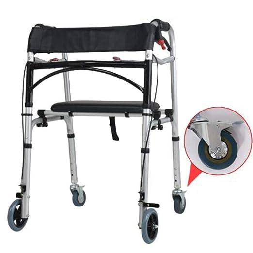 Andador plegable de liberación de gatillo, andador con ruedas de ...