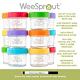 Glass Baby Food Storage Containers | Set of 12