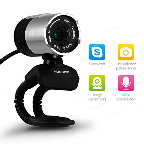 Ausdom Webcam HD 1080P Web Cam with Built-in Noise-canceling Microphone