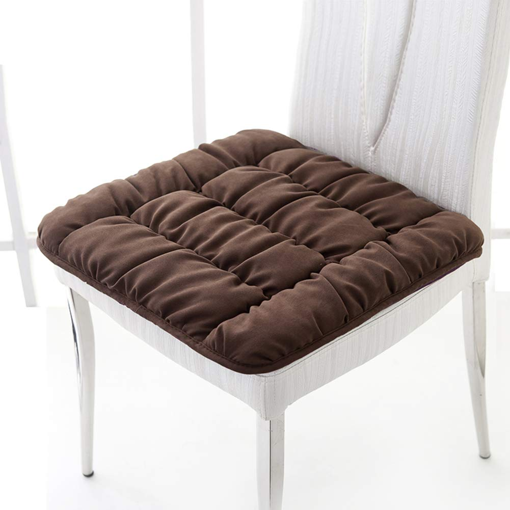 YQ WHJB Chair Cushion Dining Chairs,Nonslip Seat Cushions,Increase Thicken Student Office Car Trapezoid Soft Universal Chair Pad-Brown 55x55cm(22x22inch)