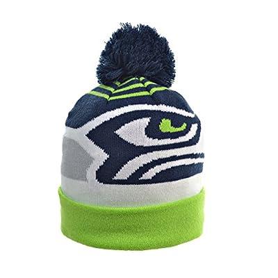 New Era Seattle Seahawks NFL Knit Pom Winter Beanie Green/Blue/White 80366005