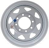 eCustomRim Equipment Trailer Rim Wheel 16'' 16X6 8 Hole Bolt Lug White Spoke (Rim Only)