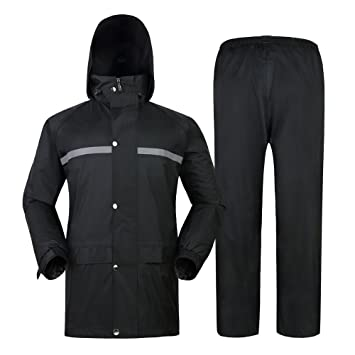 GERUAFU Impermeable, Hombres Mujeres Impermeable ...