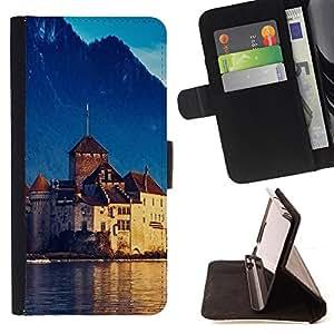 BullDog Case - FOR/Apple Iphone 6 / - / Nature Beautiful Forrest Green 96 /- Monedero de cuero de la PU Llevar cubierta de la caja con el ID Credit Card Slots Flip funda de cuer