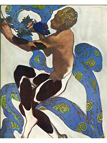 Nijinsky's Faun Costume in 'L'Apres Midi d'un Faune' by Claude Debussy from the front cover of the programme for the 7th season of the 'Ballets Russes' by Leon (Costume Ballet Russe)