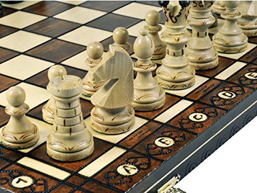 Woodburning Wooden Chess Set - Board 21x21 Inches (21 Chess Board)