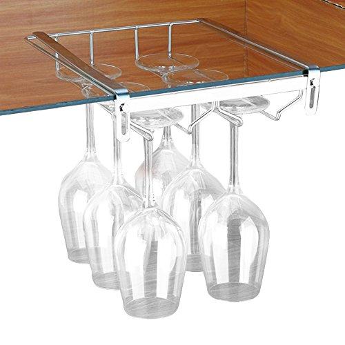 VOBAGA Wine Glass Holder, Stemware Rack Under Cabinet Storag