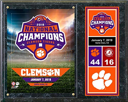 Clemson Tigers 2018 National Champions Field Plaque (Size: 15
