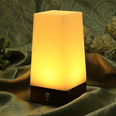 Pegasus Sensor de movimiento inalámbrico retro LED de la lámpara con pilas luz de la noche