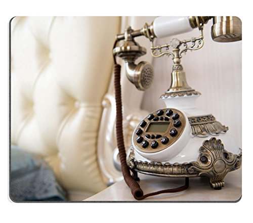 Luxlady Mousepad Luxury bedroom interior with vintage telephone on table IMAGE 19639903 (Hotel Bell No Slip compare prices)