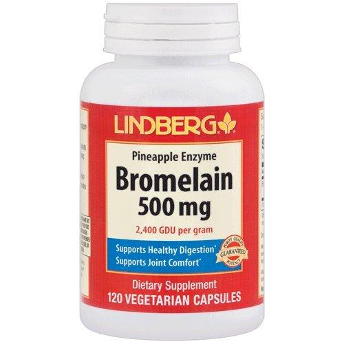 Lindberg Bromelain 500 mg (2,400 GDU per gram), Vegetarian Pineapple Enzyme Formula, Supports Healthy Digestion* and Joint Comfort* (120 Veg Capsules) by LINDBERG (Image #2)
