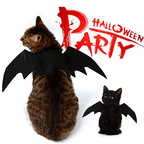our choices Batman Accessories Pet Cat Halloween Costumes Black White Sexy Kitty Outfits Costumes Party Events (Sexy Black)]()