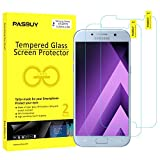 PASBUY 2 Pack Super thin 0.26mm [ Japan Glass ] Premium Tempered Glass film Screen Protector-Retail packing for Samsung Galaxy A7 (2017)