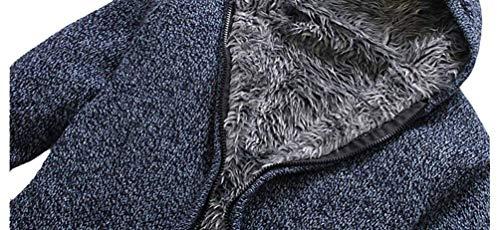 Tamaños Con 13 Blau Abrigo Hombres Bobolily Polar Softshell Algodón Chaqueta De Capucha Invierno Lana 4 Los 3 Colores Forro awOq5SOf