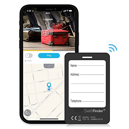 Luggage Tracker Device with App, Bluetooth Trackers Tag for Suitcase Baggage - Anti-Lost Smart Wireless Locator Tags Finder with Alarm by Toksam