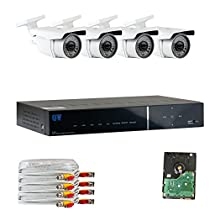 GW Security 4 Channel Hybrid HD-AHD DVR Security Camera System 1T HD - 4 x 1/3 Security Camera, 2.8~12mm Lens. 1920*1080P/30FPS Real time recording