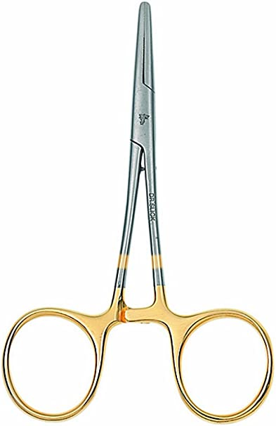 4 Curved Jaw Fishing Hemostat Pliers 5 1//2 /'/' Hook Remover