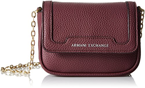 A|X Armani Exchange Chain Crossbody,Beet,One - Women Armani Bag